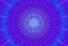 Modrofialová meditace